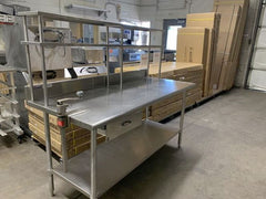 Custom Made Stainless Work Table W Shelf