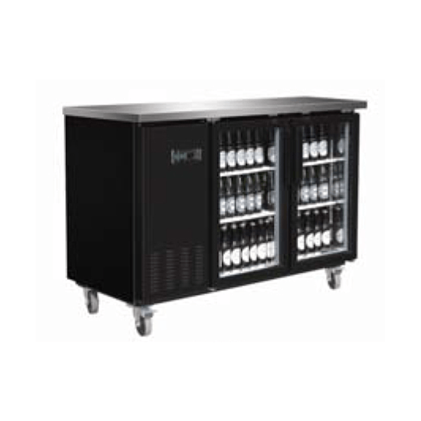 Serv-ware BB2-24G-HC Glass Door Backbar Bottle Cooler