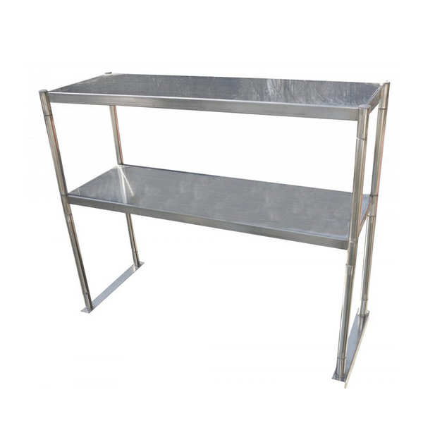 "Serv-ware OS-6E-CWP 72""x12"" Double Over-shelf - for Stainless Steel Work Table"