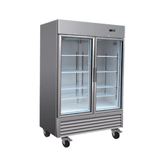 Serv-ware RR-2-49G Two Door Glass Stainless Steel Reach-In Refrigerator