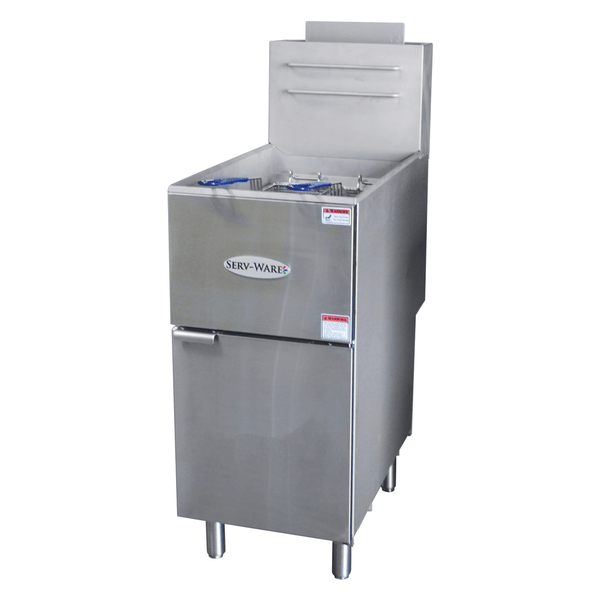 Serv-ware SGF-40N Natural Gas Fryer 35 to 40lbs 3 Tube