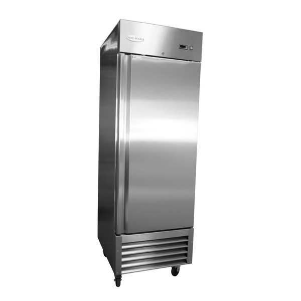 Serv-ware RF-1 One Door Stainless Steel Reach-In Freezer