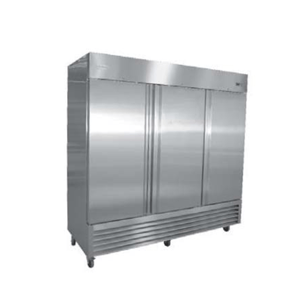 Serv-ware RR-3 Three Door Stainless Steel Reach-in Refrigerator