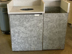 USED Tray Holder W/garbage Collector Cabinet