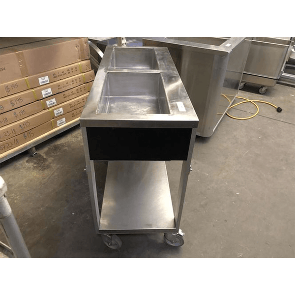 USED Atlas Metal 2 Well Electric Steam Table