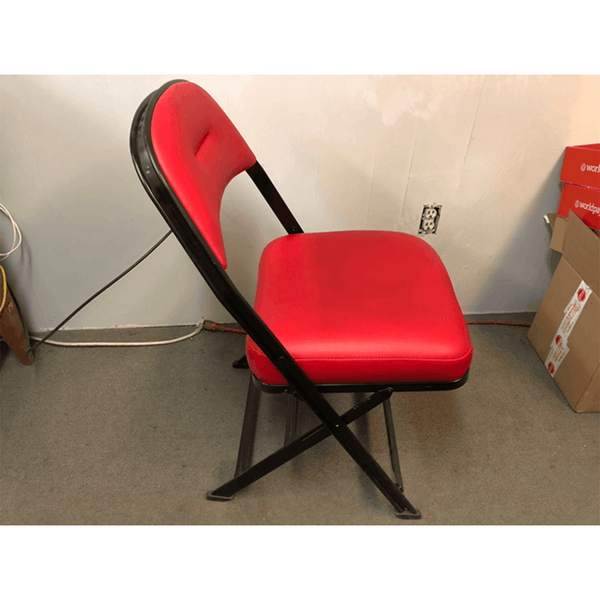 USED Red Folding Chairs
