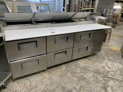 "USED True 93"" Pizza Prep Table"