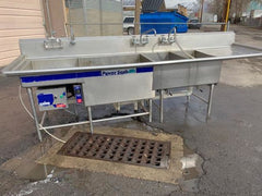 Used 4 Compartment Power Soak Sink 136''