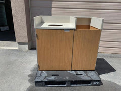 Used Tray Holder And Garbage Container