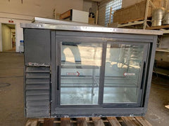 Used True Glass 2 Door Back Bar Cooler