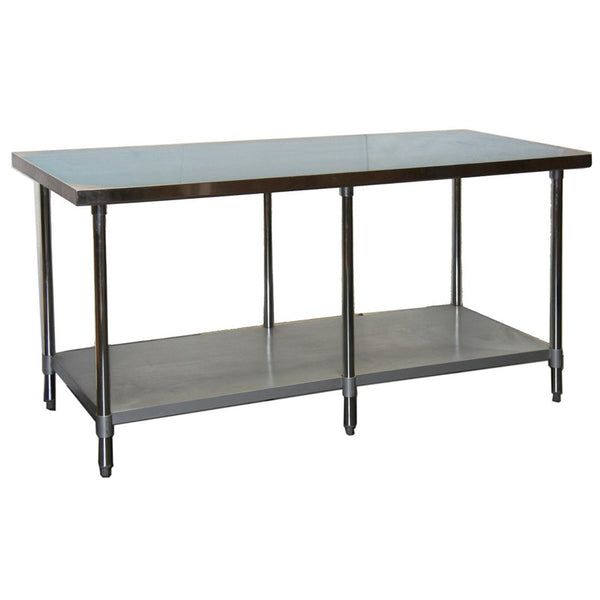 "GSW WT-EE2484 84x24"" Stainless Steel Work Table"