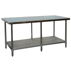 "GSW WT-EE2472 72x24"" Stainless Steel Work Table"