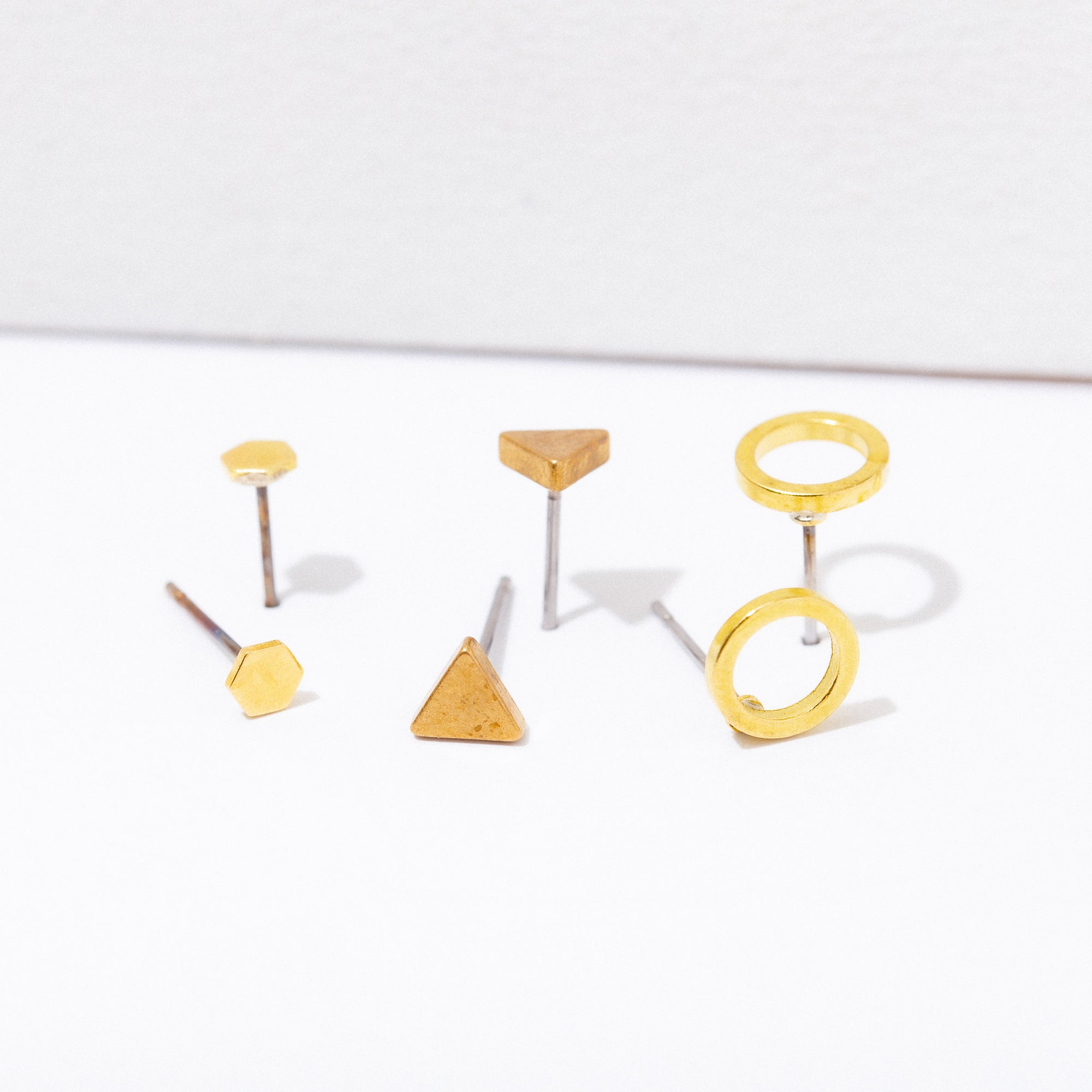 """Shapes"" Post Earring Pack"