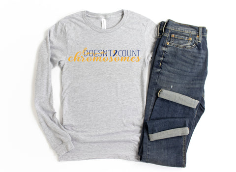Down Syndrome Awareness Long Sleeve Tee & Earring Bundle