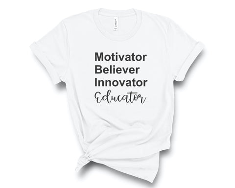 Educator White T-Shirt