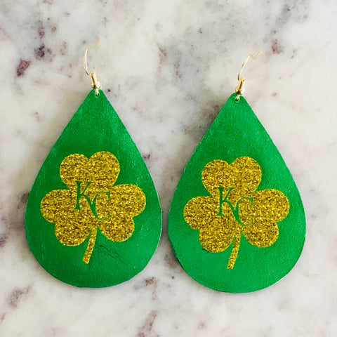 Medium Classic Teardrop ~ KC Shamrock