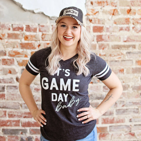 It's Game Day Baby  Women's V-Neck Jersey