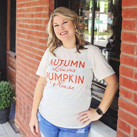 Autumn Leaves Pumpkin Please T-Shirt