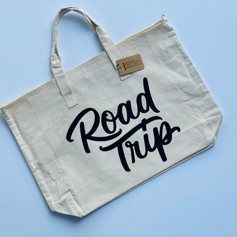 Road Trip Zippered Tote