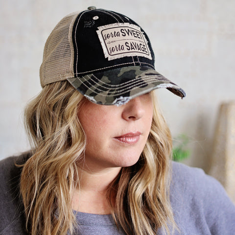 Sorta Sweet Sorta Savage Trucker Hat