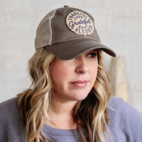 Grateful Thankful Blessed Trucker Hat