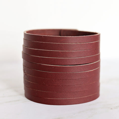 Shredded Leather Cuff