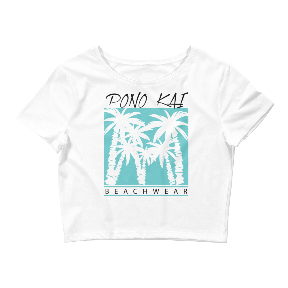 Pono Kai Blue Plams Women's Crop Tee