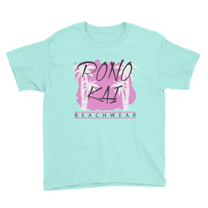 Pono Kai Pink Palms Youth Short Sleeve T-Shirt
