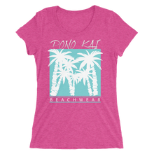 Pono Kai Blue Palms 2 Women's Short Sleeve T-shirt
