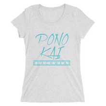Pono Kai Blue Logo Women's short sleeve t-shirt