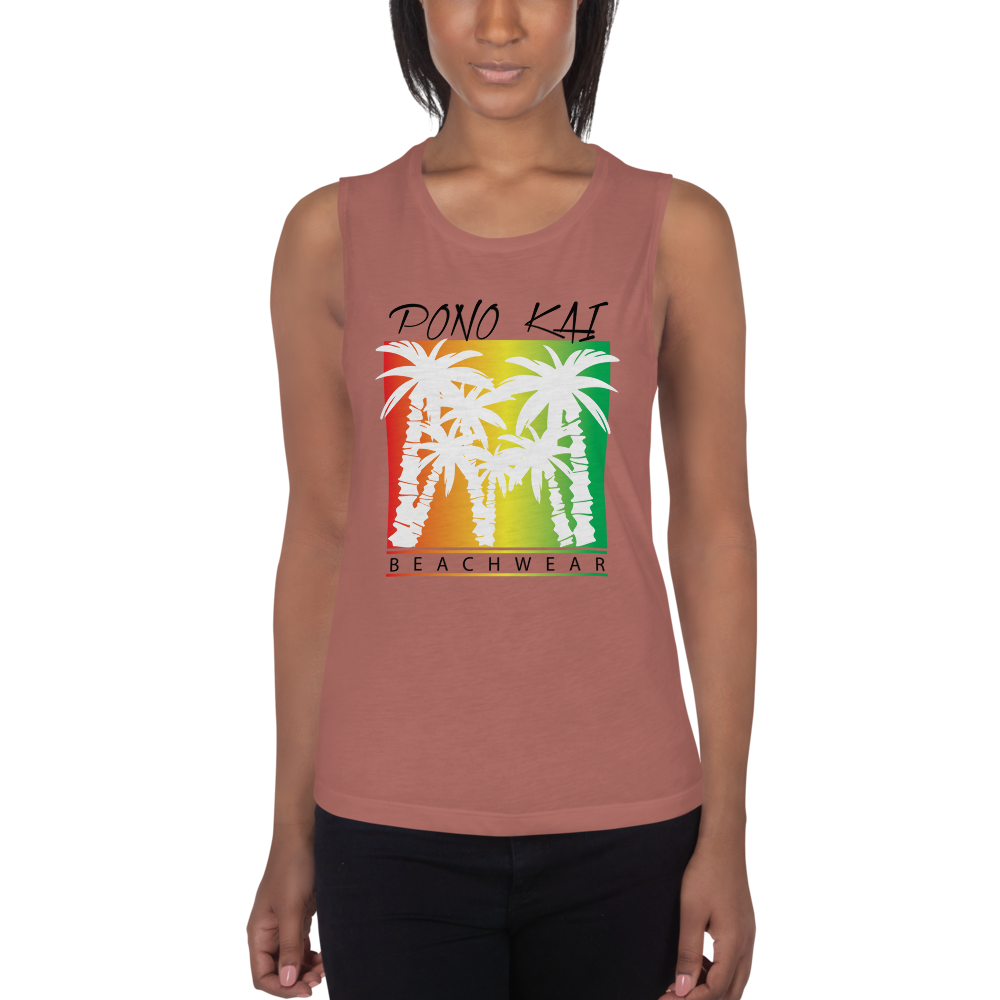 Pono Kai Rasta Palms Ladies' Muscle Tank