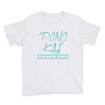 Pono Kai Blue Logo Youth Short Sleeve T-Shirt