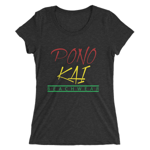 Pono Kai Rasta Square Logo Ladies' short sleeve t-shirt