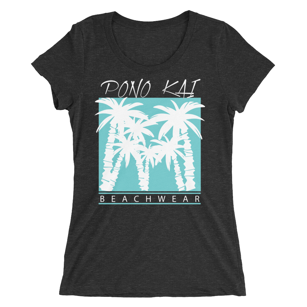 Pono Kai Blue Palms Women's T-shirt