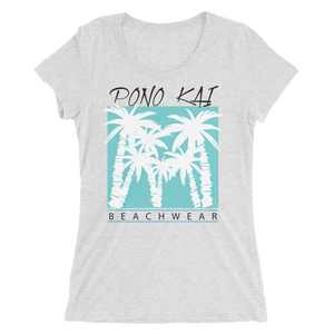 Pono Kai Blue Palms Women's Short Sleeve T-shirt