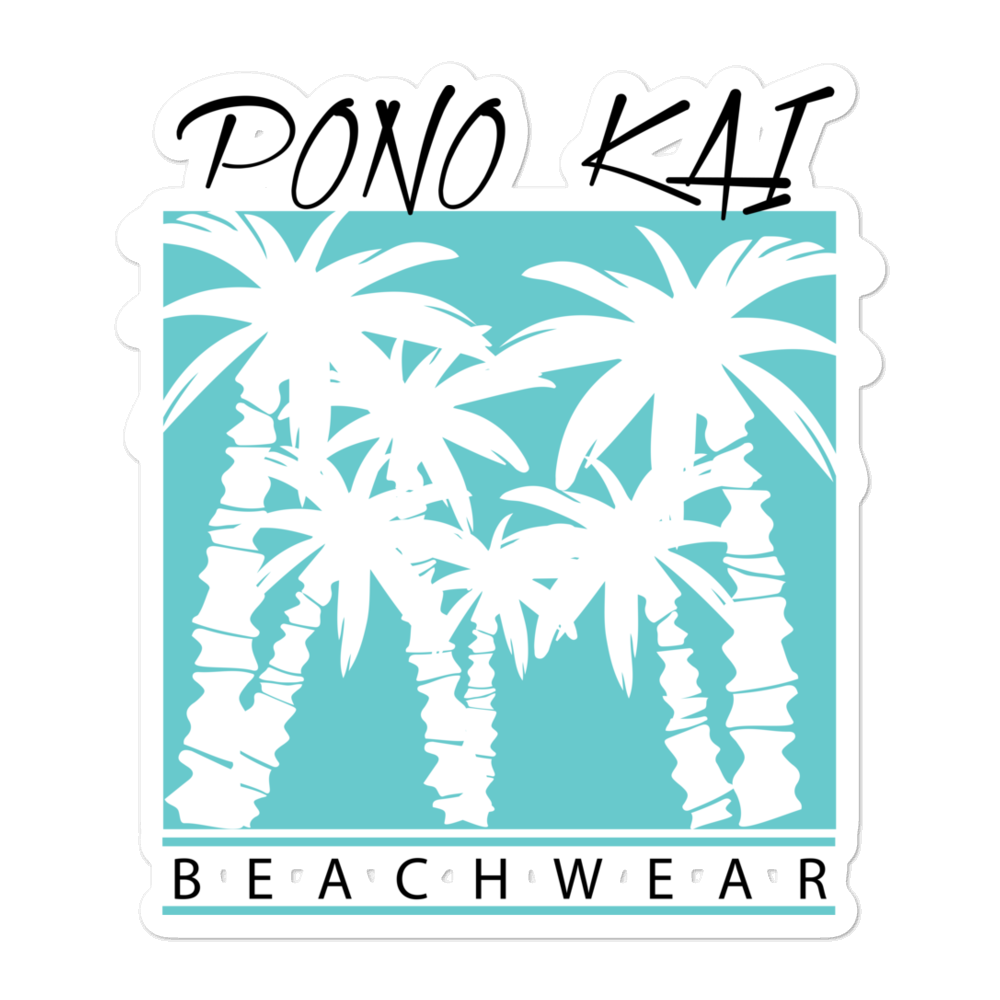 Pono Kai Beachwear Bubble-free stickers