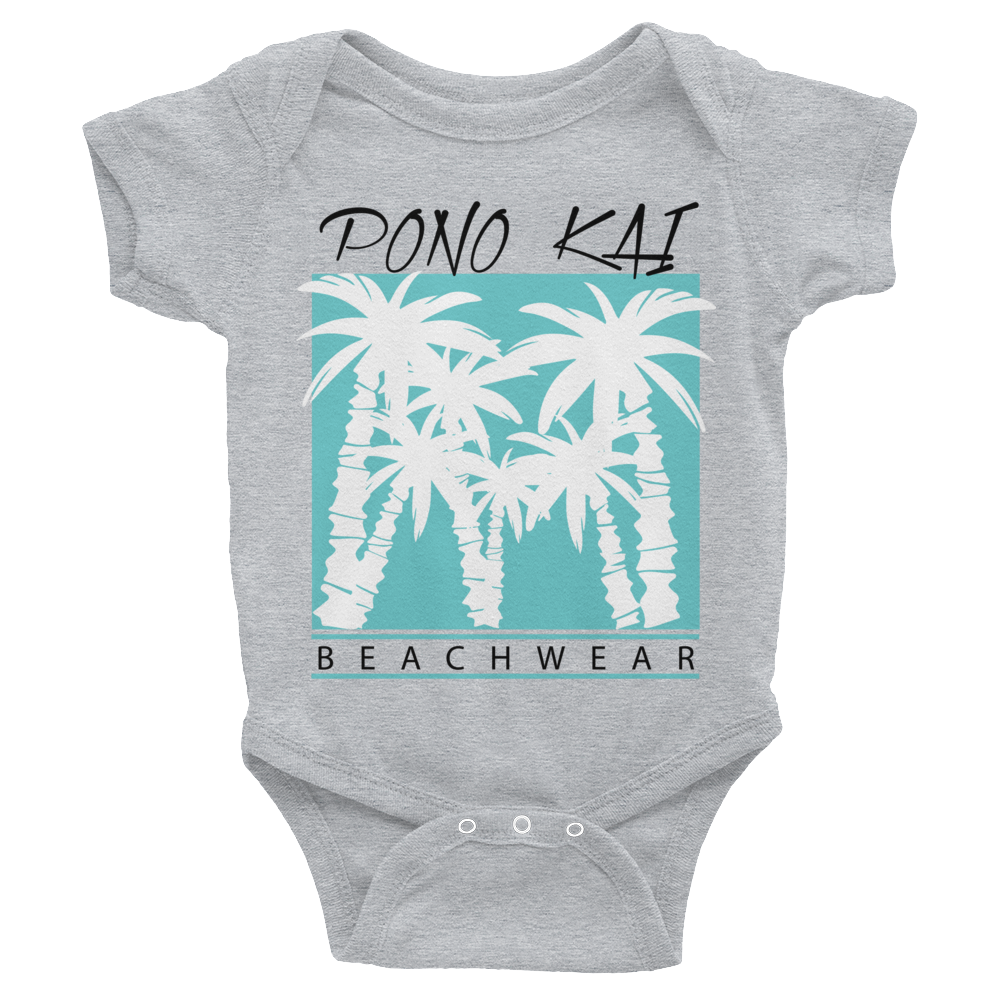 Pono Kai Blue Palms Infant Bodysuit