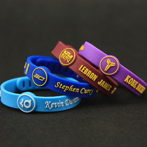 NBA Sports Silicone Unisex Wristbands