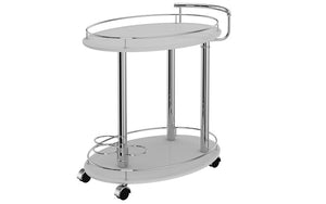 Bar Serving Cart - Grey | Black
