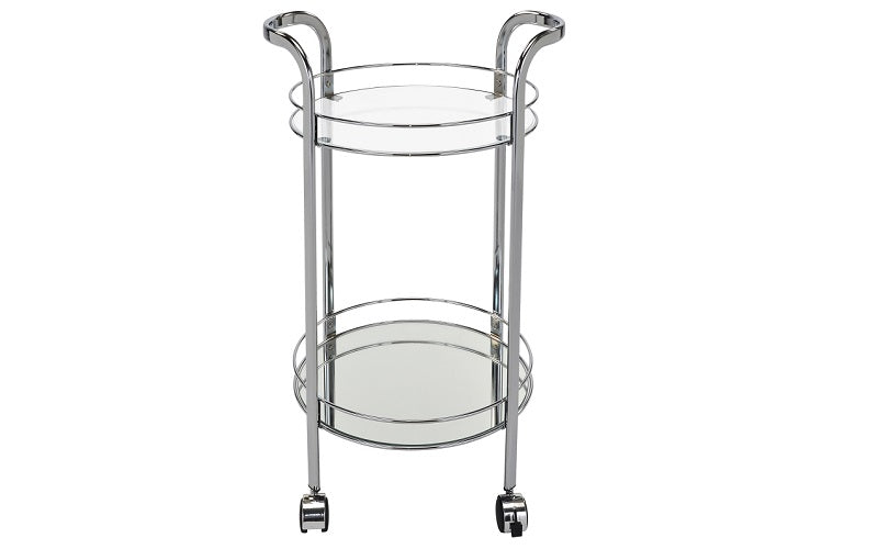 Bar Serving Cart - Chrome