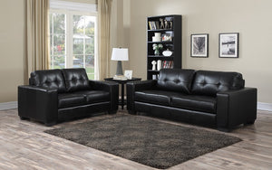 Sofa Set - 3 Piece - Black