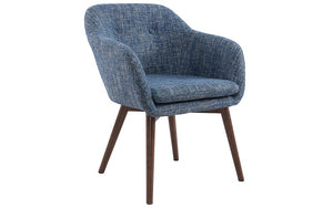 Accent Chair Fabric with Walnut Leg - Light Blue