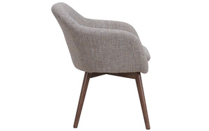 Accent Chair Fabric with Walnut Leg - Beige