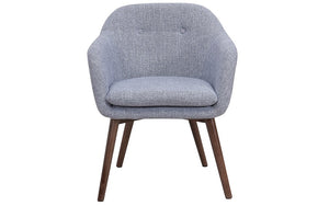 Accent Chair Fabric with Walnut Leg - Light Grey