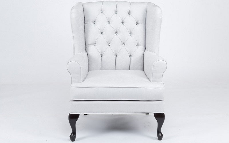 Accent Chair with High Back - Off White