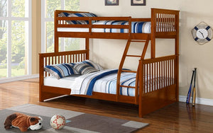 Bunk Bed - Twin over Double Mission Style Solid Wood - Honey