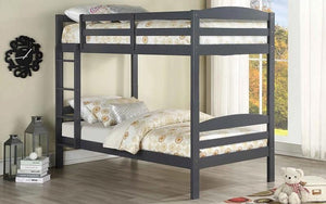 Bunk Bed - Twin over Twin Solid Wood - Grey