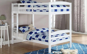 Bunk Bed - Twin over Twin Solid Wood - White