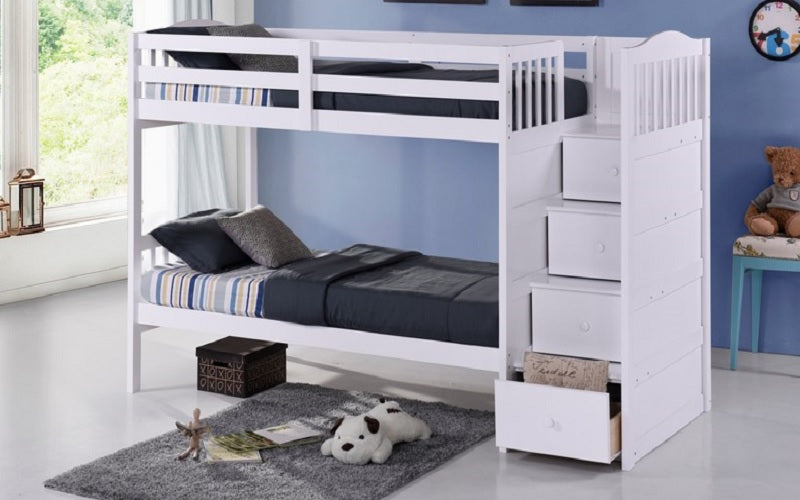 Bed Over Stair Box Google Search: Twin Over Twin Or Double With Drawers