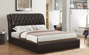 Platform Bed with Bonded Leather  - Espresso